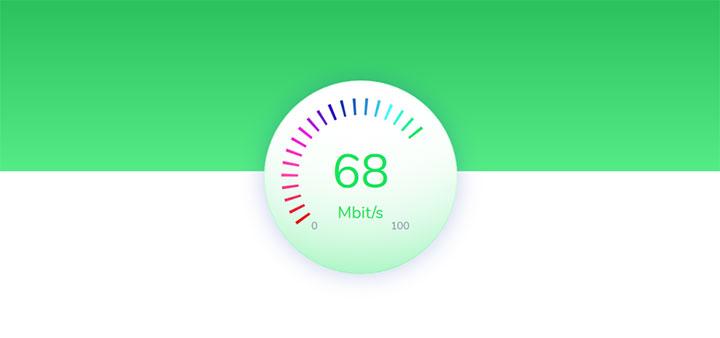 HTML5 SVG圆形流量测速仪动画特效