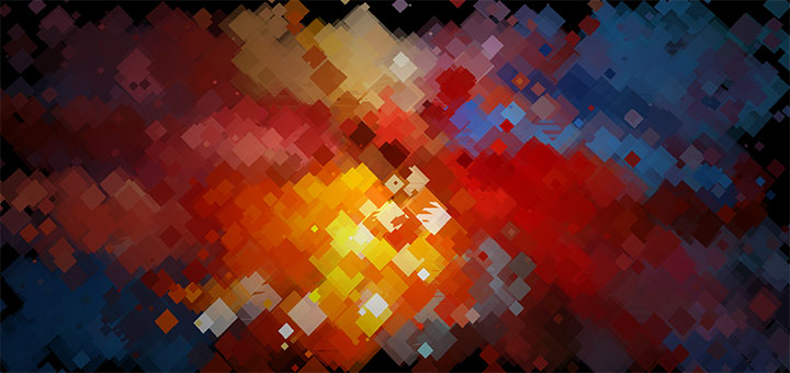 html5 canvas彩色馬賽克散開動畫特效