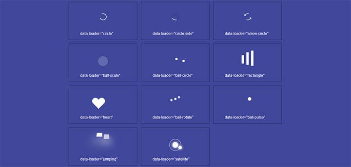 11种CSS3图标加载矢量动画特效