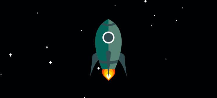 HTML5 SVG绘制卡通火箭发射升空动画特效