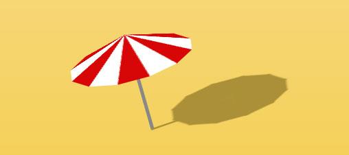 CSS3绘制卡通沙滩伞旋转动画特效