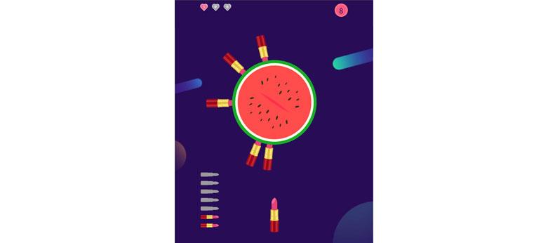 HTML5口红见缝插针小游戏代码