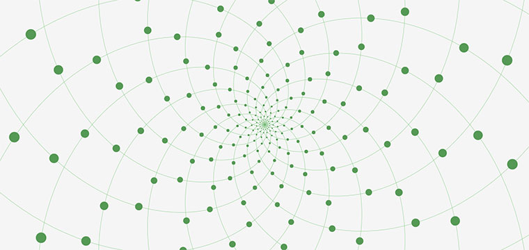 html5 canvas螺旋点结合线条无限延伸背景动画特效