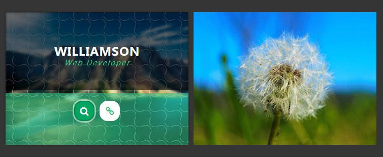 CSS3鼠标悬停图片遮罩层动画特效