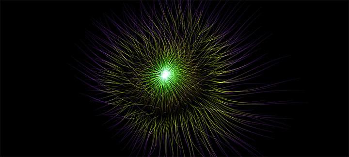 HTML5 Canvas+WebGL酷炫3D噪音线条动画特效