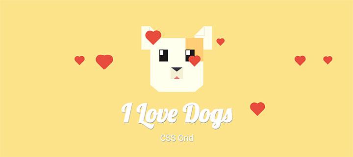 js+css3绘制卡通狗与爱心冒泡动画特效