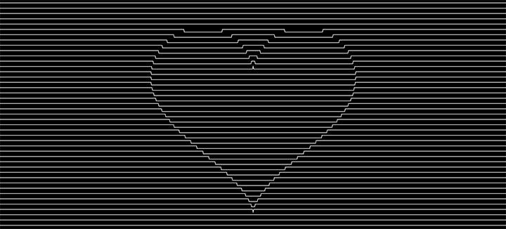 HTML5 Canvas线条爱心波纹动画特效