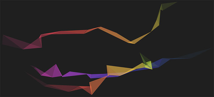 html5 canvas全屏彩带飘动背景动画特效