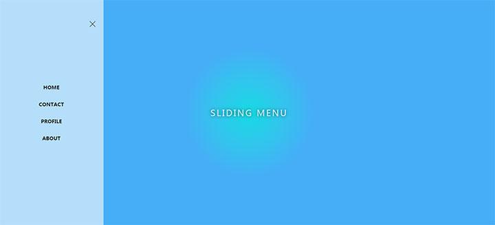 js+css3网页左侧滑动菜单动画特效