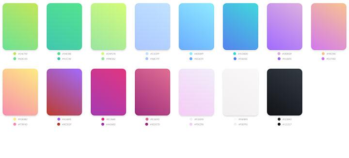 15种CSS3渐变颜色色板配色代码