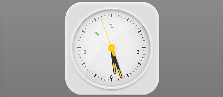 JS+CSS3精美指针时钟图标动画特效