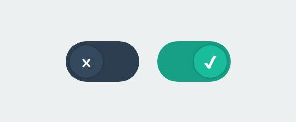 CSS3手机端开关按钮勾选关闭切换特效