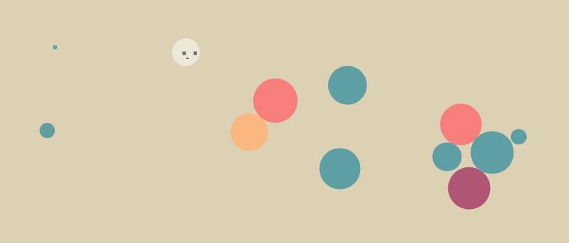 HTML5+jQuery圆球碰撞动画特效