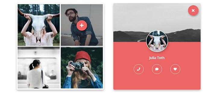 jQuery+CSS3交互式头像图片网格布局代码