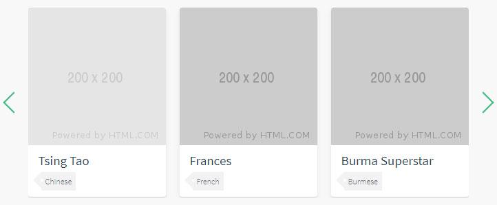 vue.js单排图文卡片转动切换代码