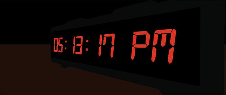 HTML5 3D液晶数字时钟动画特效