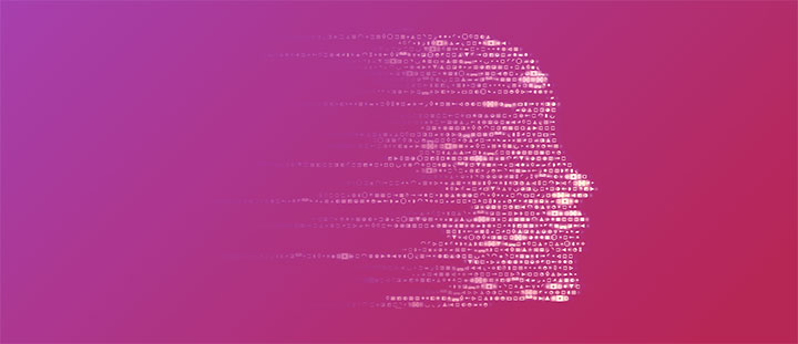 JS+CSS3绘制数字科技脸元素图形特效