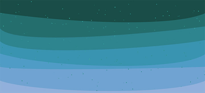 html5 canvas多层波浪背景动画殊效