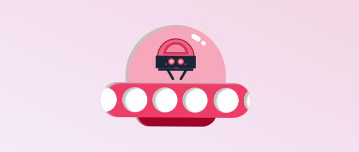 CSS3卡通UFO飞船动画特效