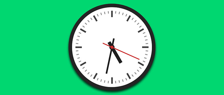 js+css3圆形时钟矢量动画殊效