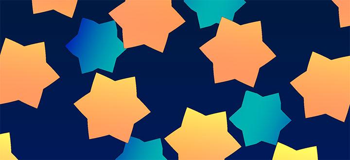 HTML5 Canvas六角星变色变形扭迁移转变画殊效