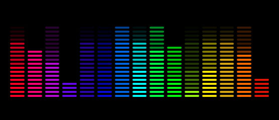 CSS3音乐均衡器跳动动画殊效