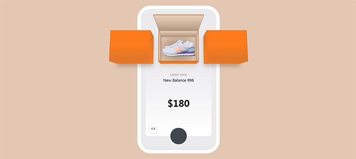 CSS3创意3D鞋子产品切换展示殊效