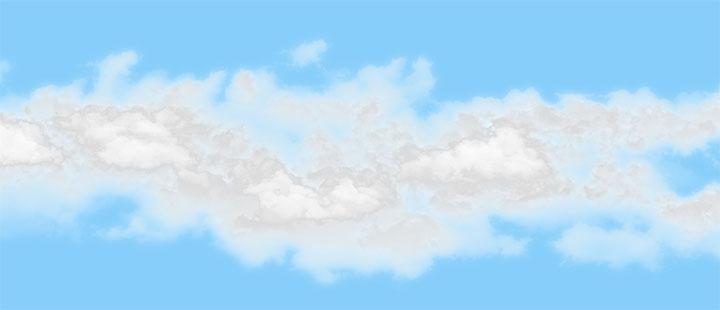 html5 canvas蓝天白云背景动画殊效