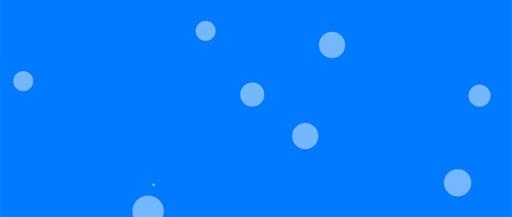 html5 canvas透明气泡网页背景动画特效