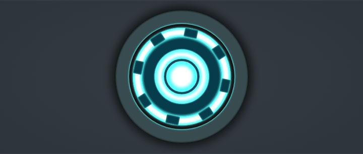 css3绘制钢铁侠心脏能量圈动画特效