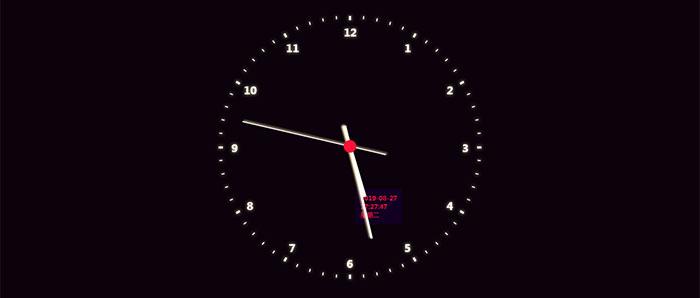 js基于css3制作的圆形虚线时钟特效