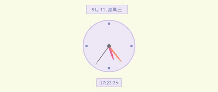 简洁的圆形时钟js代码