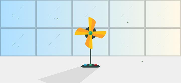 css3绘制的卡通电风扇动画特效