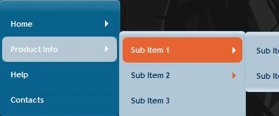 jquery经典二级横向导航菜单代码5