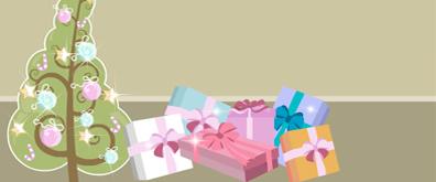 闪闪发光的礼盒圣诞树flash素材