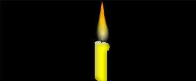 燃烧的黄色蜡烛flash透明素材