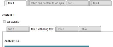多层tab标签嵌套支持无连接分类
