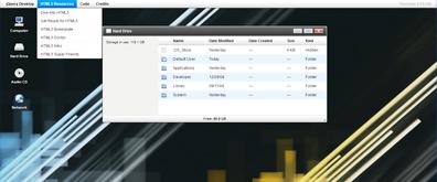 jquery在线模拟linux系统桌面效果