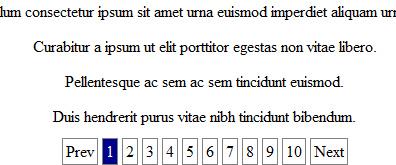一个简洁的jquery文章分页系统