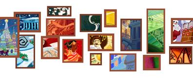 google2010年圣诞节logo动画设计制作