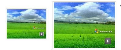 图片上叠加图片,类似于视频播放的样式