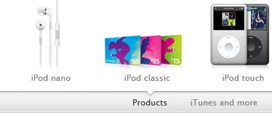 苹果ipod产品切换特效