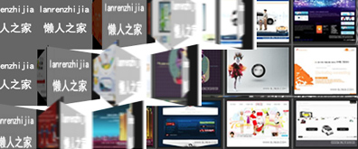 Flash+xml自动翻牌方格墙广告代码