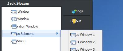 JS网页模拟windows操作系统桌面后台管理框架