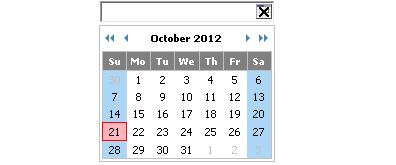 弹出式JavaScript 日历控件
