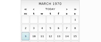 支持键盘快捷键日历时间选择器