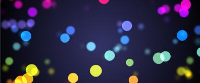 五颜六色彩点向上缓慢飘动flash素材