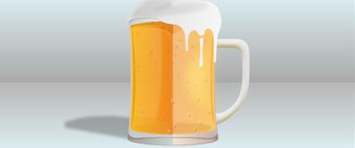 啤酒杯中向上飘动的水泡效果