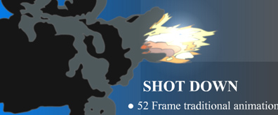flash模拟宇宙飞船爆炸效果