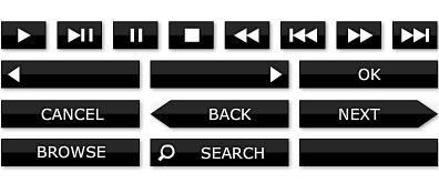 播放器中常用的flash按钮素材